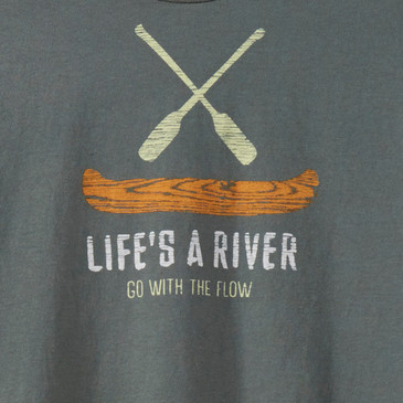 Men's Long Sleeve Tees - Go With the Flow Willow