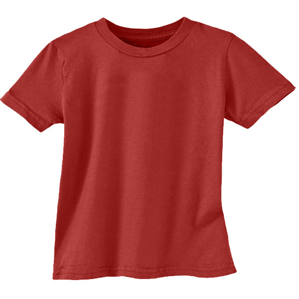 Organic Cotton Toddler Tee - Solid - Poppy