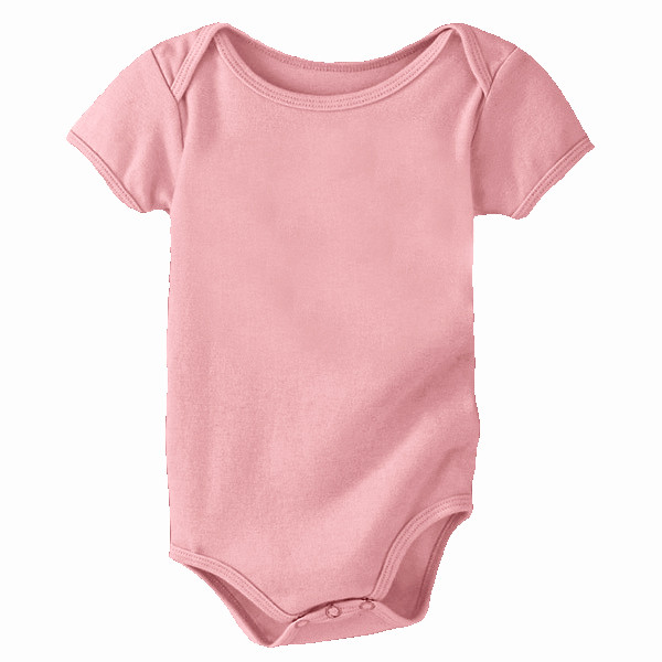 Organic Cotton Onsie - Solid - Soft Pink