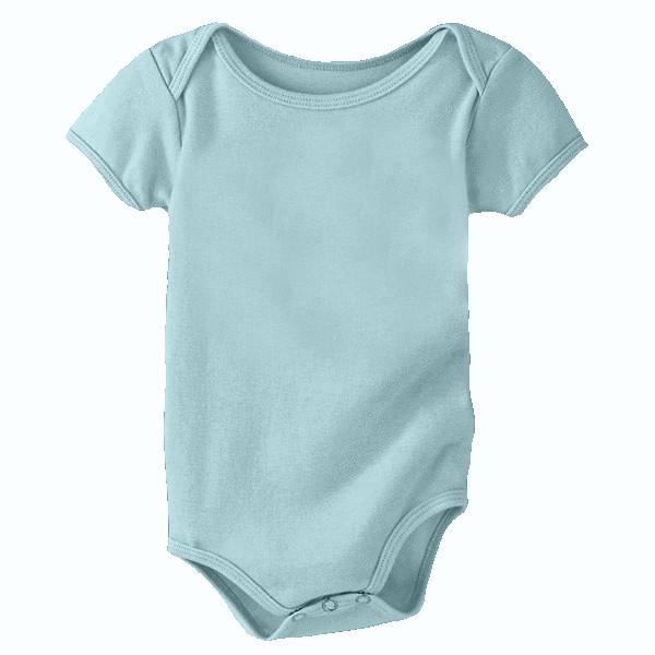 Organic Cotton Infant Onesie - Sea Foam - Small