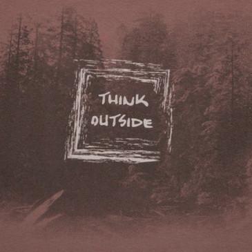 Men's Organic Cotton T-Shirt - Think Outside - Chestnut