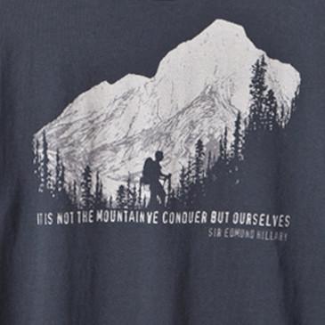 Men's Organic Hiking T-Shirt Soft Black