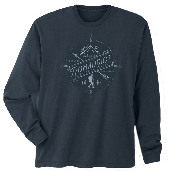Nomaddict Men's Long Sleeve Soft Black