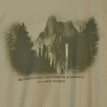 Men's Organic Outdoor and Nature T-Shirts - Think Outside Khaki