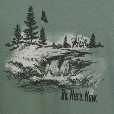 Men's Graphic T-Shirt - Be Here Now Sea Green