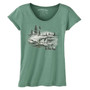 Women's Slim Scoop - Be Here Now Sea Green