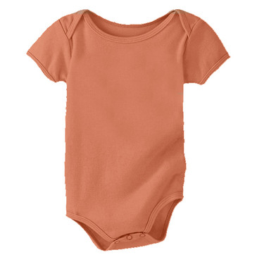 Solid Infant Onesie - Adobe - 6-12M