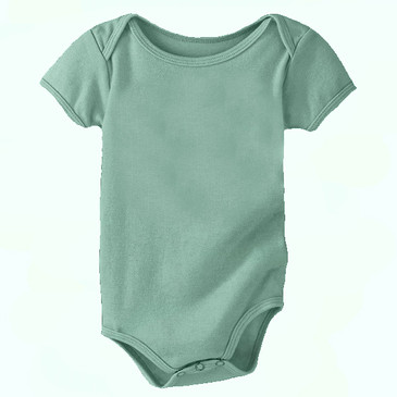 60% Off Solid Infant Onesie - Sea Green- 12-18M