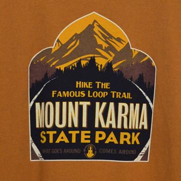 Men's Organic Ringspun Cotton T-Shirts - Mount Karma Nutmeg
