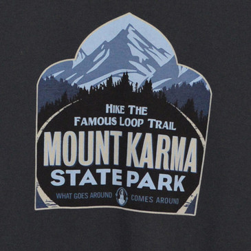 Mount Karma Men's T-Shirt Soft Black Medium