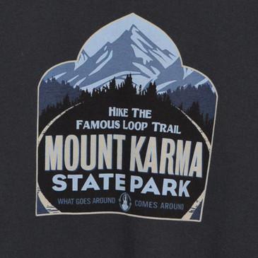 Mount Karma Men's T-Shirt Soft Black Medium