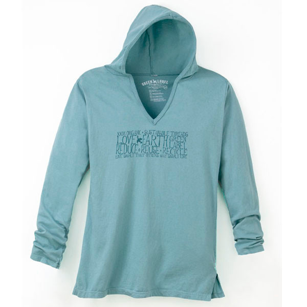 Women's Slim Hooded Tunic Live Simply Sea Foam