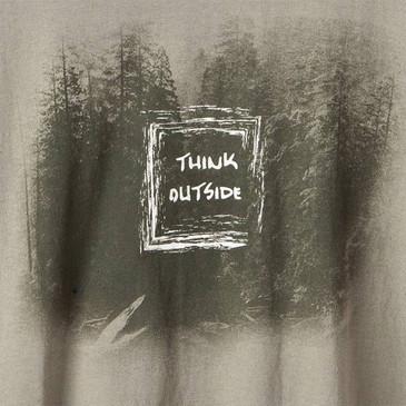 Think Outside Men's T-Shirt Khaki