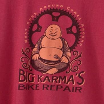 Big Karma Men's Long Sleeve T-Shirt Brick