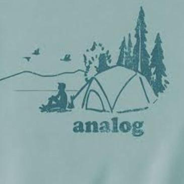 Men's Long Sleeve T Shirt - Analog Silver Spruce