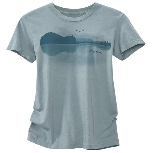 Women's Organic Short Sleeve T-Shirts - Listen Silver Spruce