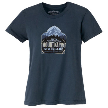 Women's Organic T-Shirts - Mount Karma Soft Black