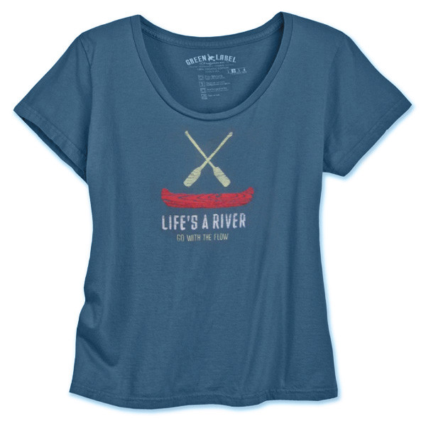 Women's Classic Scoop - Go With the Flow Blue Star