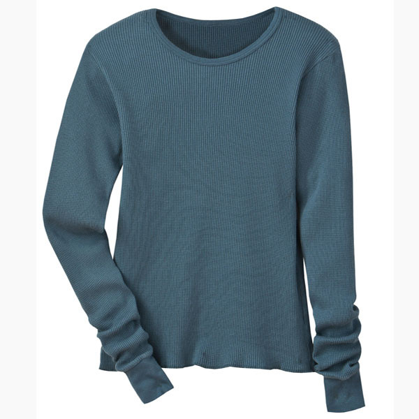 Women's Slim Fit Thermals - Solid Blue Star