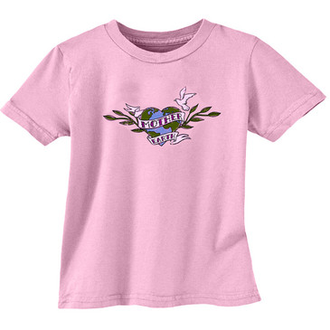 Toddler Tee Mother Earth Soft Pink