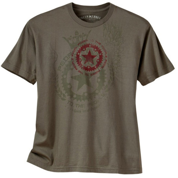 Men's Cycling Tees - Pedal Power Khaki