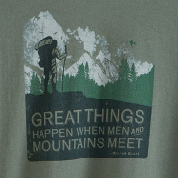 Men's Organic Hiking T-Shirts - Men and Mountains Willow