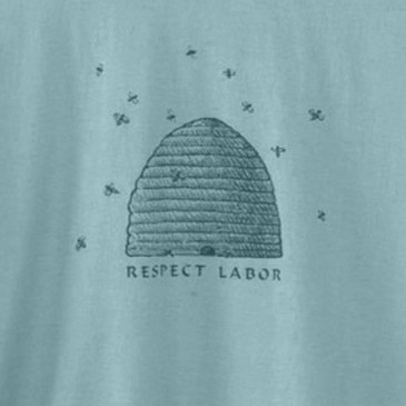 Men's Eco Friendly T-Shirts - Respect Labor Sea Foam