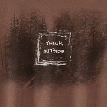 Men's Organic Outdoor T-Shirts - Think Outside Shiitake
