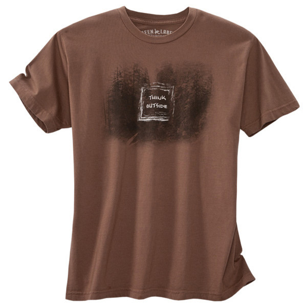Men's Organic Outdoor T-Shirts - Think Outside Shiitake