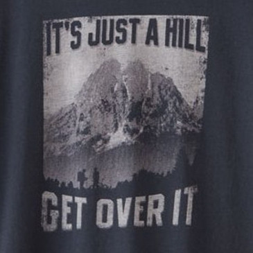 Men's Organic XXL Hiking Tee - Just a Hill Soft Black