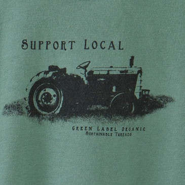 Men's Sustainable and Made in America XXL T-Shirts - Support Local Sea Green