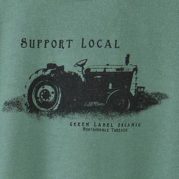 Women's XXL Classic Scoop Neck - Support Local Sea Green