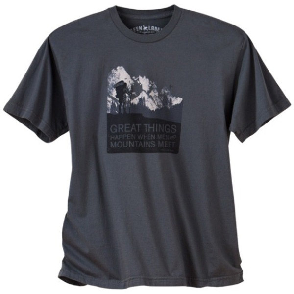 d2b72801f8 Men s Organic Hiking T Shirts - Men and Mountains Graphite