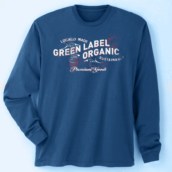 Men's Made in America Long Sleeve T-Shirts - Made With Purpose Navy