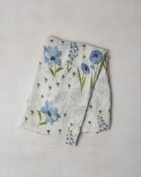 Baby Swaddle Blue Windflower