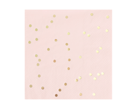 Blush Pink and Gold Confetti Napkins