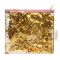 Good As Gold Everything Party Pouch- Gold Confetti