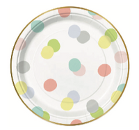Baby Dots Paper Plates