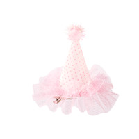 Mini Party Hat Clip - Polka Dot