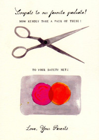 A Hole in Your Safety Net Graduation Card