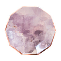 Amethyst Light Purple Watercolor Plates- Large
