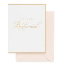 Be My Bridesmaid Traditional Card