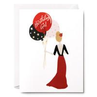 Birthday Girl Balloons Greeting Card