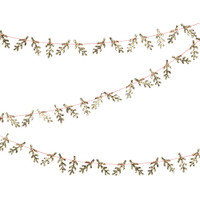 Mini Gold Glitter Pine Garland