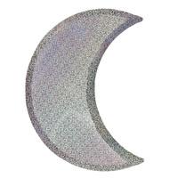 Silver Sparkle Moon Plates