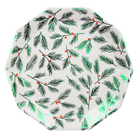 Festive Leaves & Berries Plates- Large
