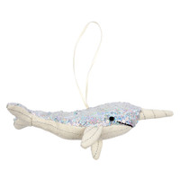 Sequin  Narwhal Ornament