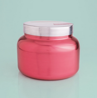 Pink Peppermint Metallic Pink Signature Jar Candle- 19oz