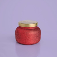 Volcano Red Glitter Jar Candle- 19 oz