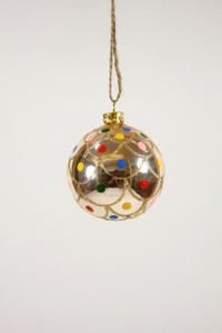 Polka Dot Ball Ornament